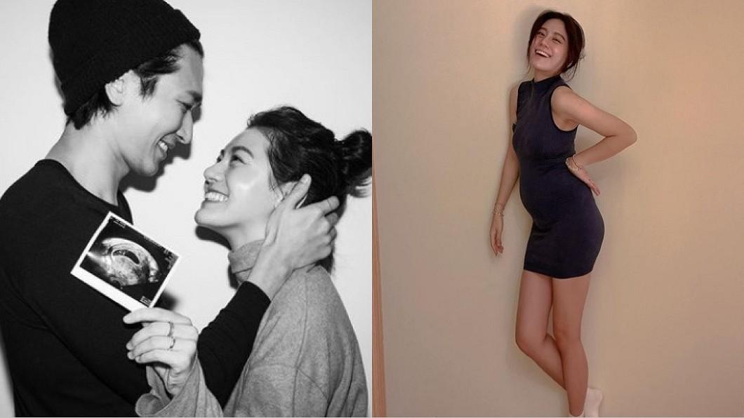小蠻嫁給演員邵翔1年,目前懷孕已5個月。(圖/翻攝自小蠻IG) 懷胎嘔血吐到賁門裂開 小蠻自認「大逆不道」別情緒勒索