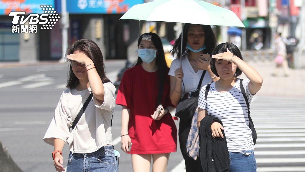 (圖/中央社) 今年首發高溫資訊!中南部4縣市亮黃燈 明達36度