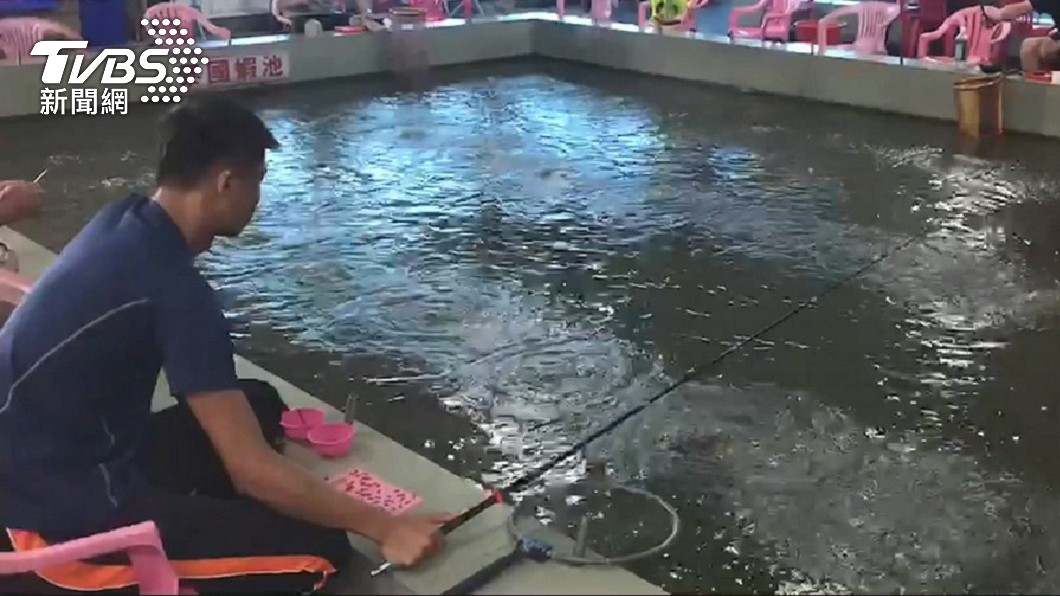 新北市一間釣蝦場屢被顧客反映「釣嘸蝦」。(圖/TVBS資料畫面) 顧客反映釣不到蝦 老闆一查驚見2員工「偷吃185斤」