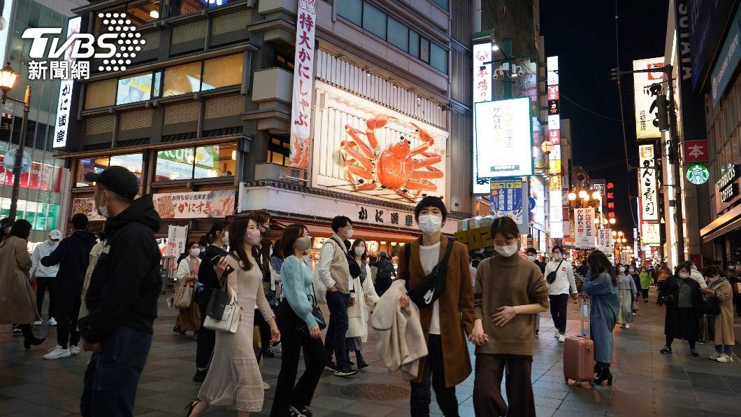 (圖/達志影像美聯社) 日本增新冠肺炎確診1345例 大阪恐進入第4波疫情