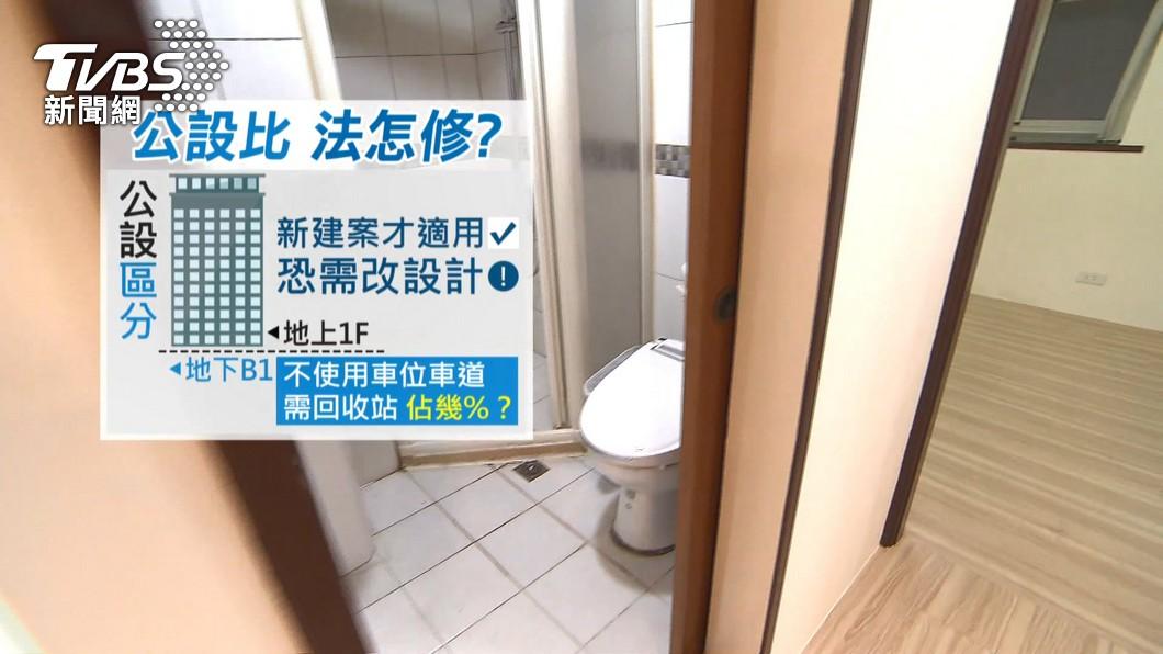 圖/TVBS 「高公設比」內政部擬修法! 新建案有望省百萬