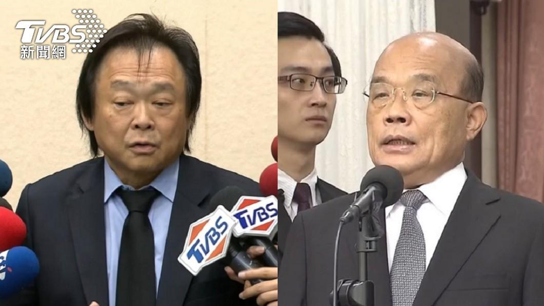 蘇貞昌稱「沒超前部署早限水」。(圖/TVBS) 「沒超前部署早就限水」 王世堅勸蘇:少扯有的沒的
