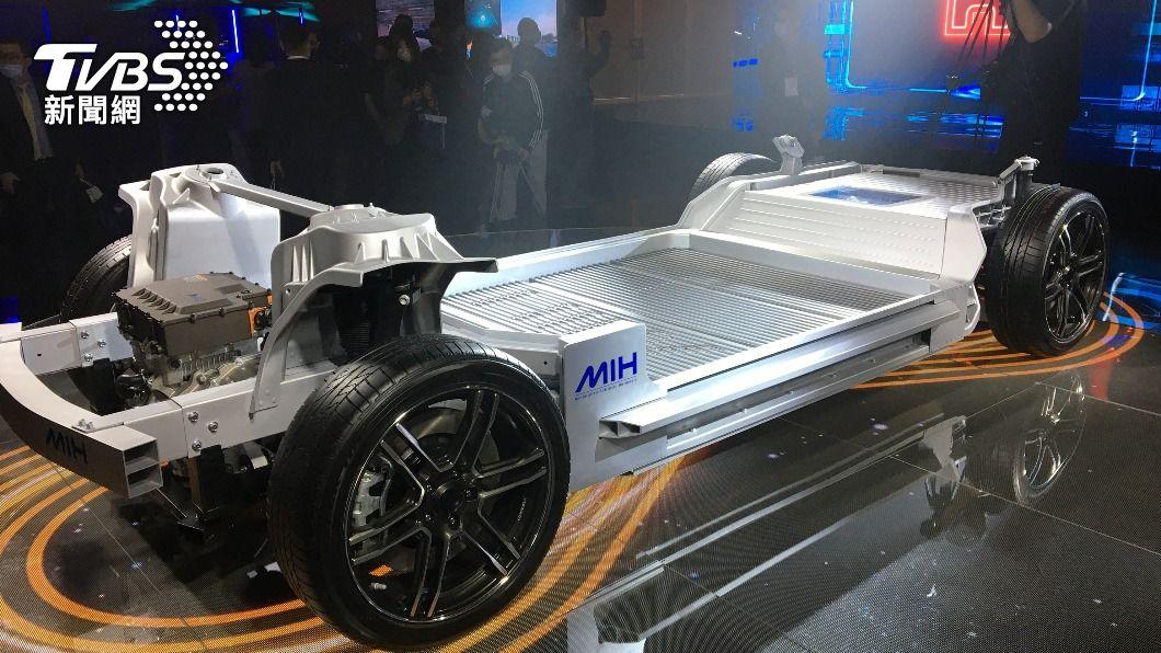 鴻海去年10月推出MIH電動車平台。(圖/中央社) 鴻海工業富聯攻電動車 布局三大面向