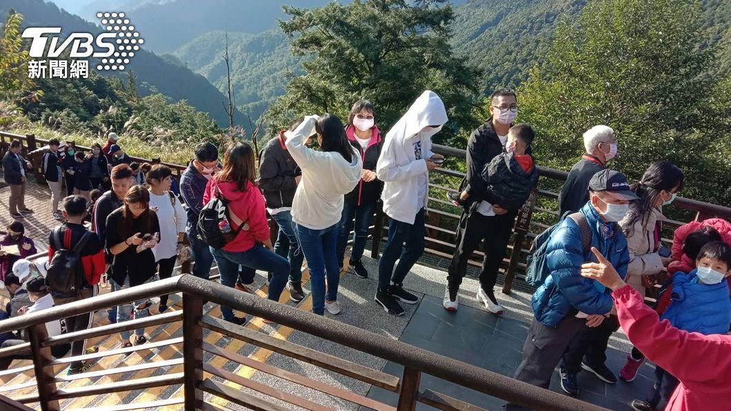 (圖/中央社) 清明連假防疫不鬆懈 掃墓出遊仍有總量管制