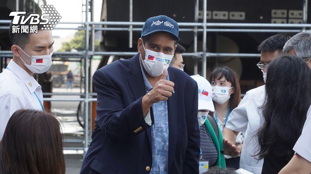 帛琉總統惠恕仁。(圖/中央社) 台灣旅客造訪帛琉無景點限制 惠恕仁:歡迎來玩
