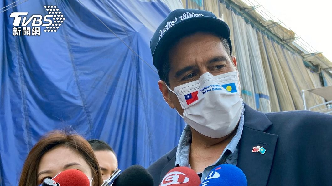 帛琉總統惠恕仁。(圖/中央社) 揭反陸緣由 帛琉總統:他們「語氣」令人反感