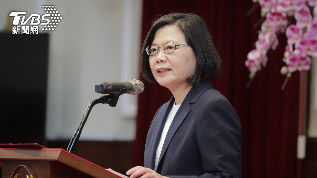 總統蔡英文。(圖/中央社) 全美台灣同鄉會50週年慶 蔡英文:挺台聲音更多