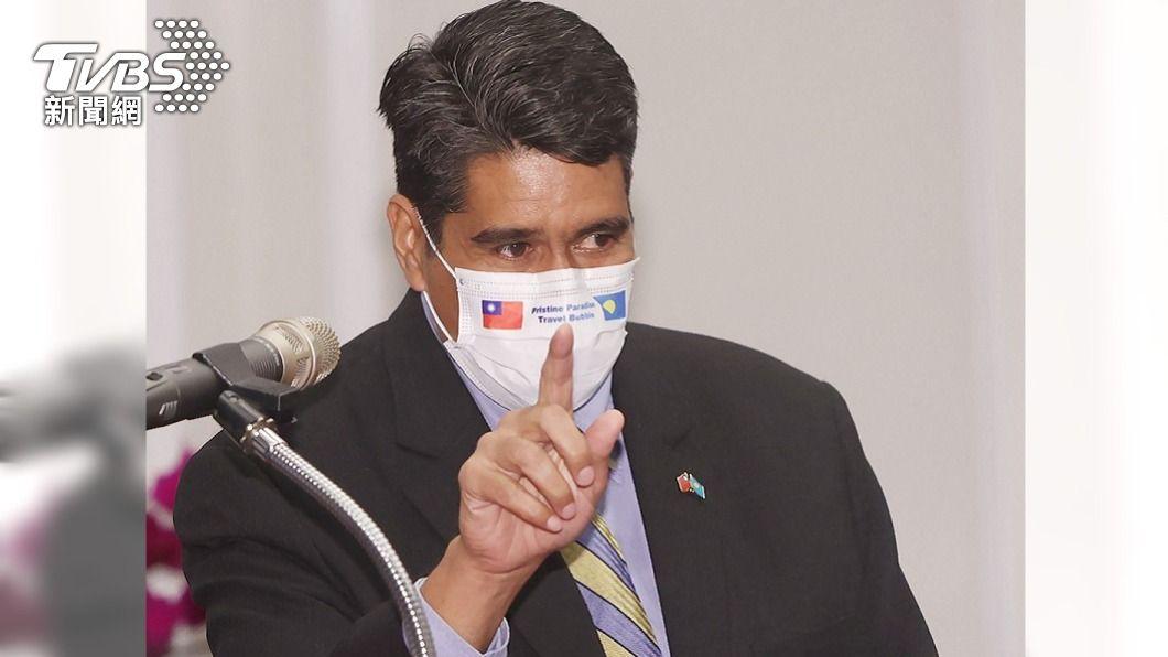 帛琉總統惠恕仁。(圖/中央社) 結束訪台 帛琉總統惠恕仁:台帛關係珍貴穩健