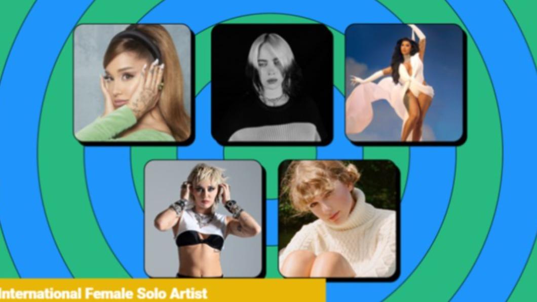 圖/全英音樂獎網頁www.brits.co.uk 全英音樂獎入圍名單女歌手風光 韓天團BTS寫歷史