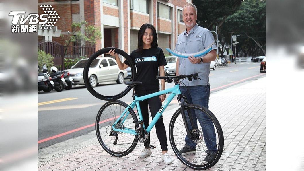 (圖/中央社) 「絕對不會爆的輪胎」 新創公司賣進歐洲共享單車市場