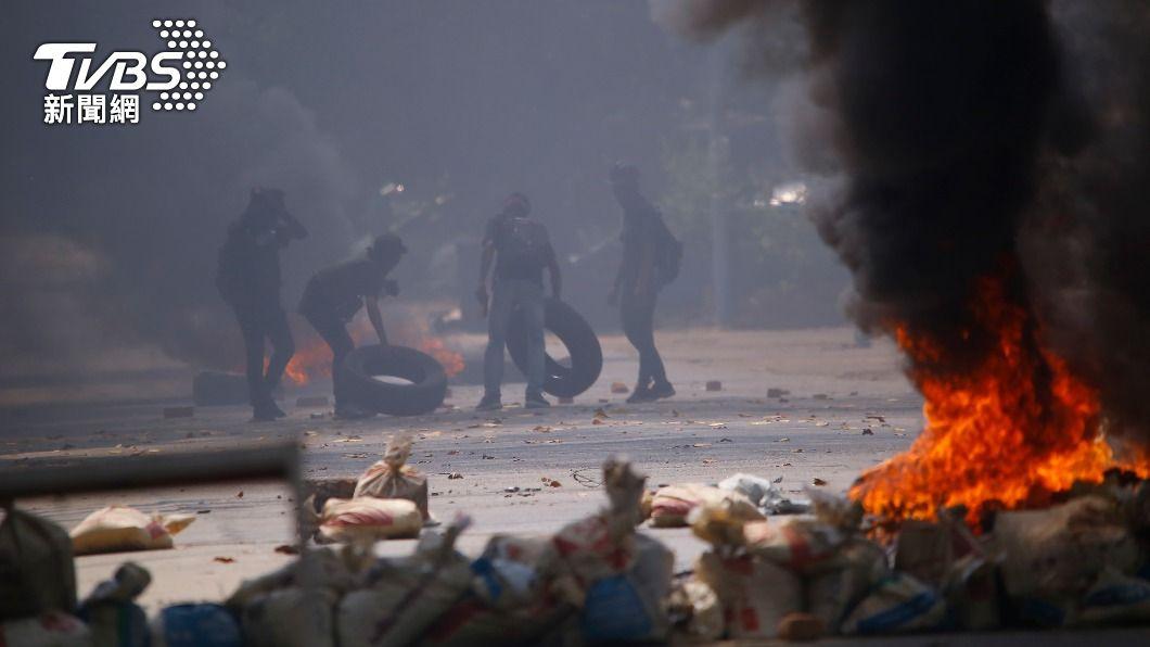 (圖/達志影像美聯社) 緬甸軍方暴力鎮壓人民 聯合國安理會一致強烈譴責