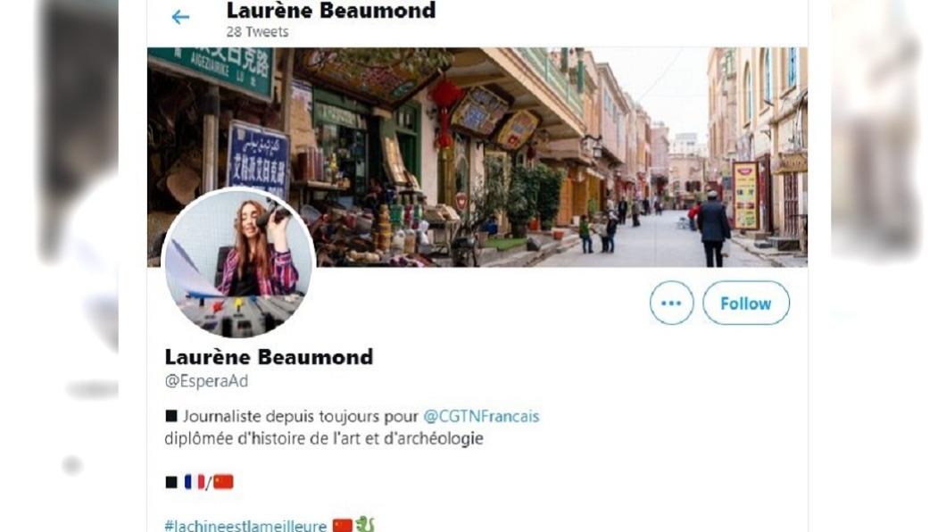 (圖/翻攝自推特) 新疆政策洗白文 陸媒疑編造假法國記者遭踢爆