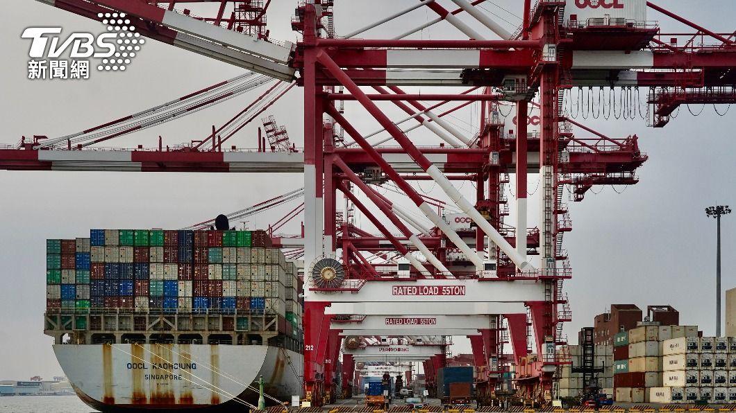 (圖/中央社) 台灣出口值世界排名進步2名至第15 近16年來最佳