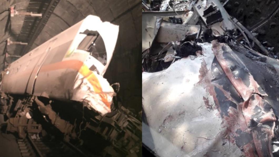 台鐵408次太魯閣號2日上午9時28分左右發生出軌事件。(圖/網友提供) 台鐵事故整理!37年前自強號出軌墜河床 死傷最慘重