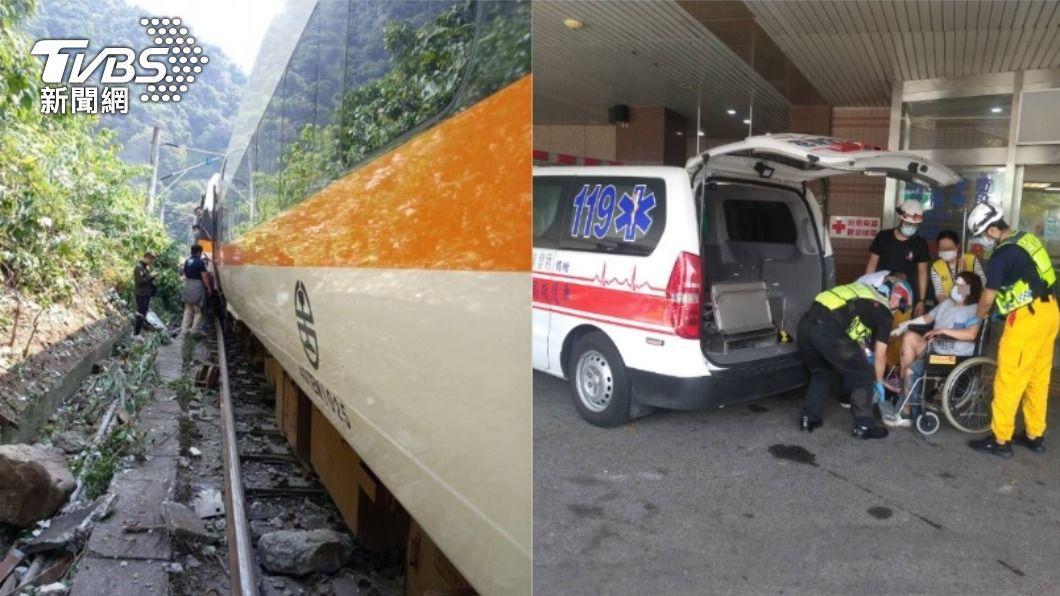 (圖/中央社) 台鐵太魯閣號出軌多人死傷 傷患免健保卡可例外就醫
