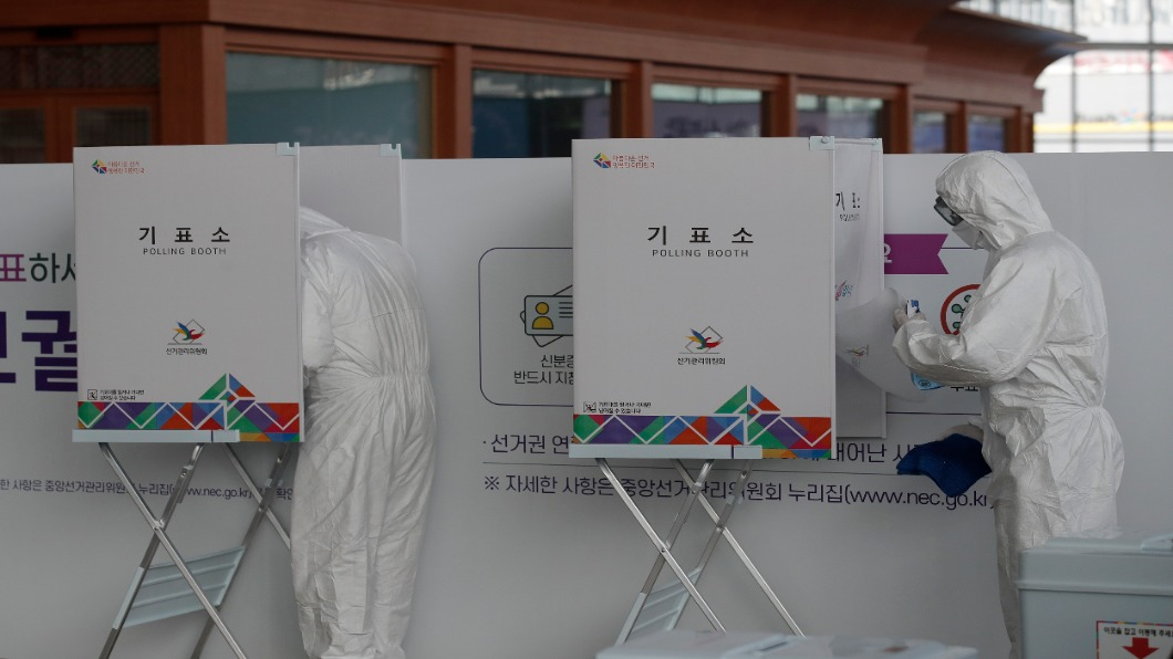 圖/達志影像美聯社 首爾、釜山市長4/7補選 「事前投票」起跑