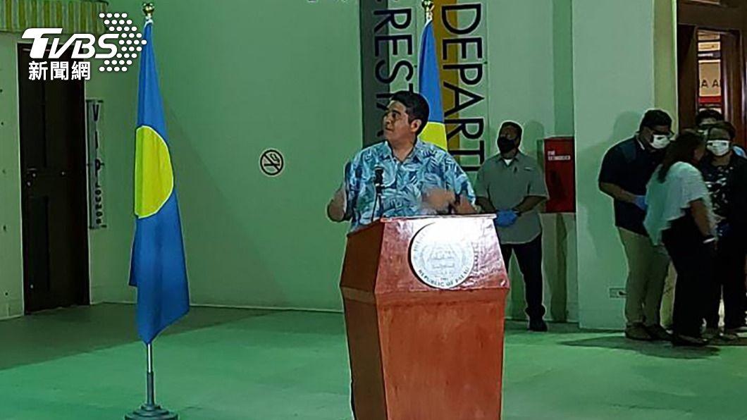 (圖/中央社) 帛琉總統讚台帛旅遊泡泡珍貴 如疫情中一道光芒