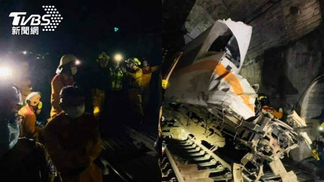 台鐵408車次太魯閣號發生出軌意外。(圖/TVBS) 夫帶愛女搭車「1死2開刀搶救」 妻心碎駕車奔花蓮