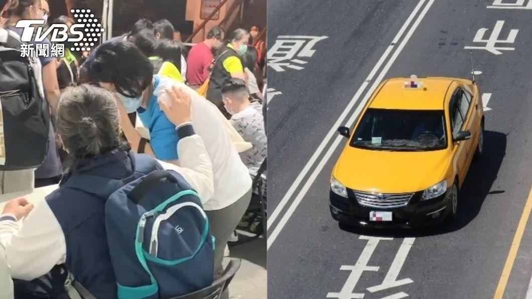 台東一名身障計程車司機願意無償接送。(圖/TVBS、shutterstock 達志影像) 「無償」接送太魯閣號家屬 超暖小黃:少賺1天也OK
