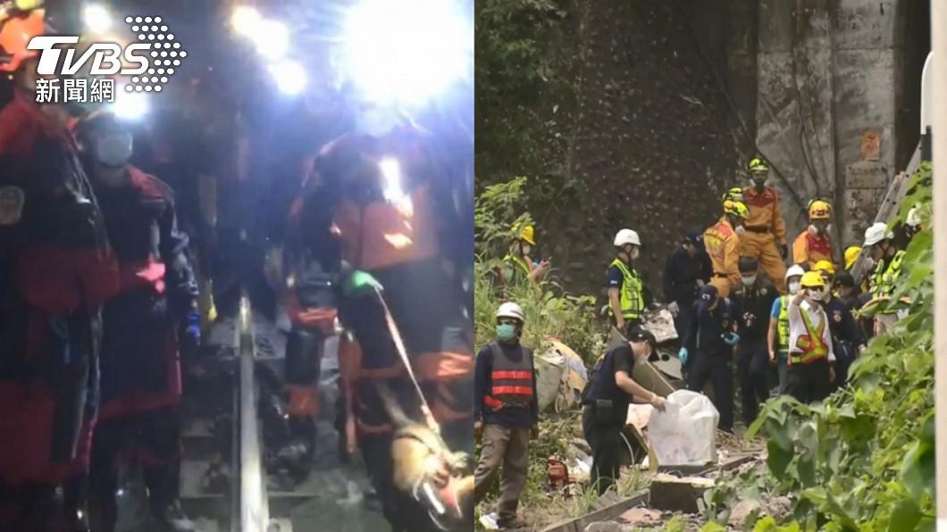 台鐵408車次太魯閣號2日發生重大出軌意外。(圖/TVBS) 還罹難者尊嚴 76行者「24小時輪班修補」:別捐款了
