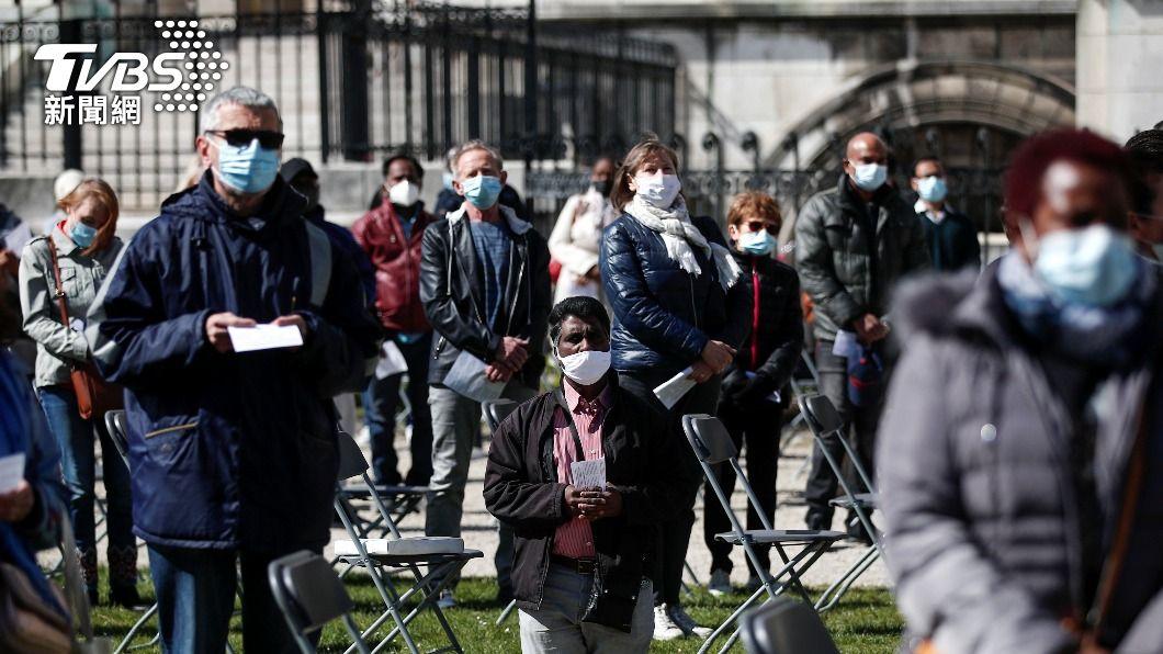 法國新冠疫情嚴峻。(圖/達志影像路透社) 法國新冠重症者創新高 累積病歿者逾9萬人