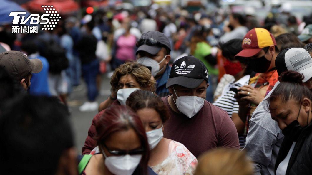 墨西哥新冠疫情嚴峻。(圖/達志影像路透社) 墨西哥確診全球第3高 累計病歿逾20萬人