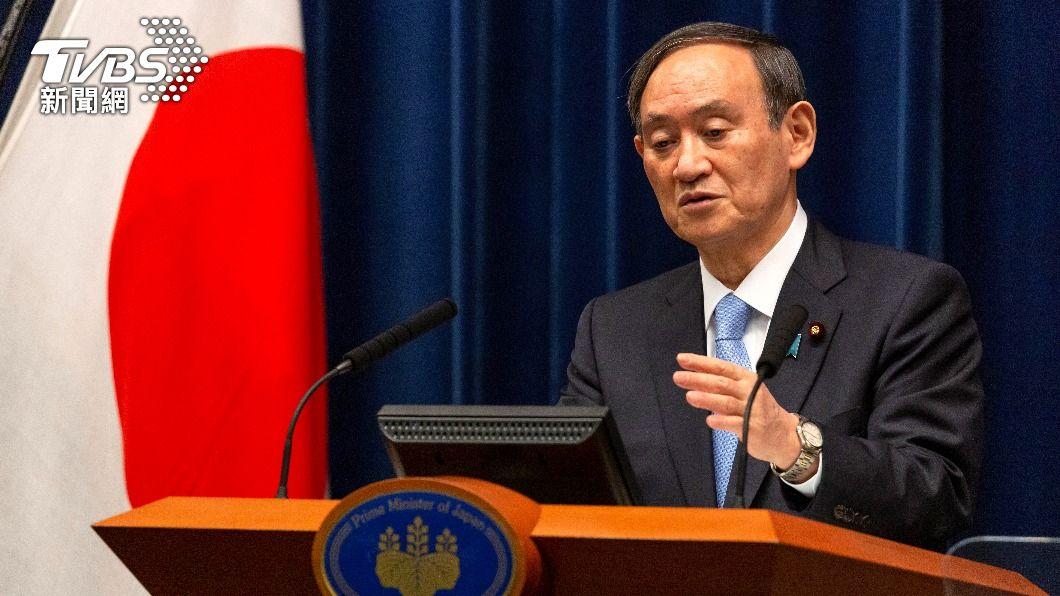 日本首相菅義偉今(4)日談及台灣問題。(圖/達志影像路透社) 談台灣問題 菅義偉:日美合作創造和平解決環境