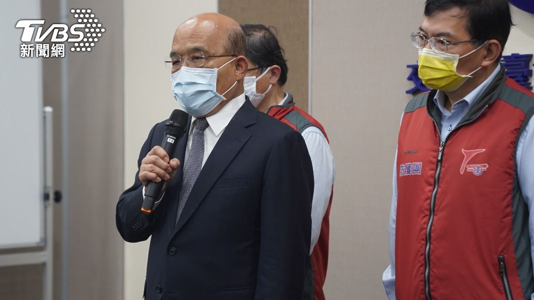 針對林佳龍的請辭案,蘇貞昌表示尚未討論。(圖/中央社) 林佳龍口頭請辭交通部長 蘇貞昌:還未討論