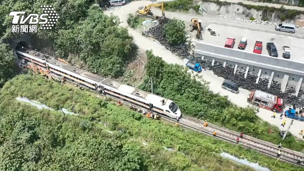 太魯閣號事故。(圖/TVBS) 太魯閣號肇事地點卡車輛非首次 監造人員無作為遭訴