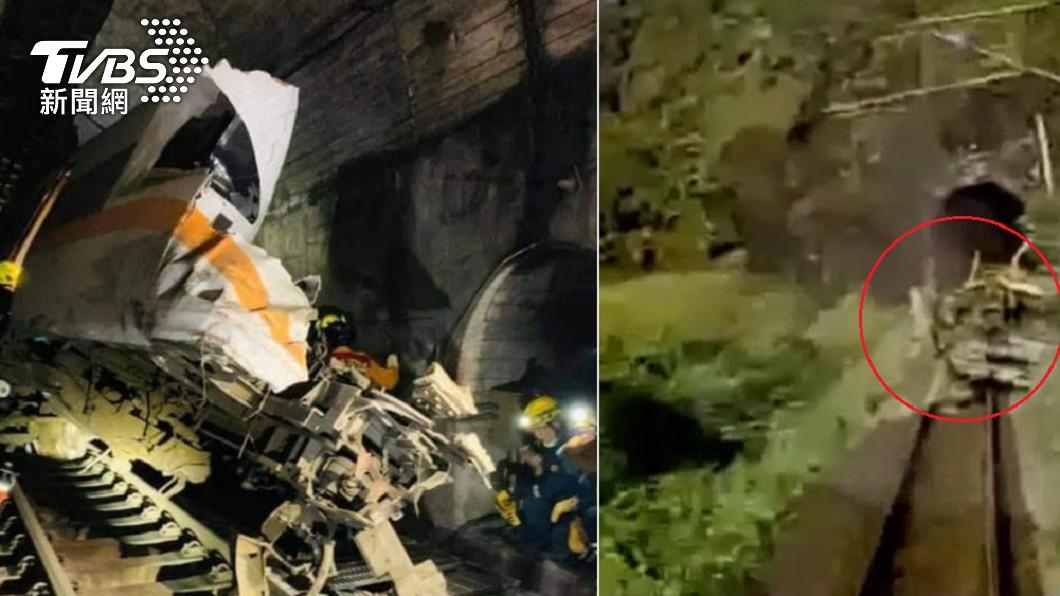 台鐵408車次太魯閣號稕上工程車發生出軌事故。(圖/TVBS) 日本願助台鐵「整頓安全制度」 網友跪喊:拜託快來!
