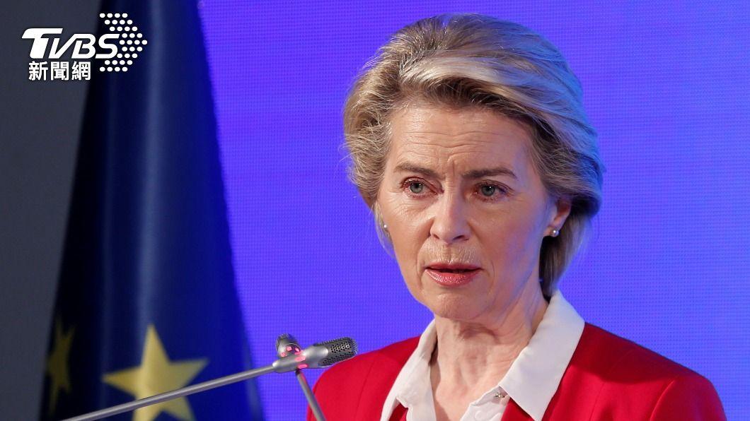 歐盟執委會主席范德賴恩。(圖/達志影像路透社) 「呃」!會土耳其總統竟尷尬沒座位 歐盟執委會主席傻眼