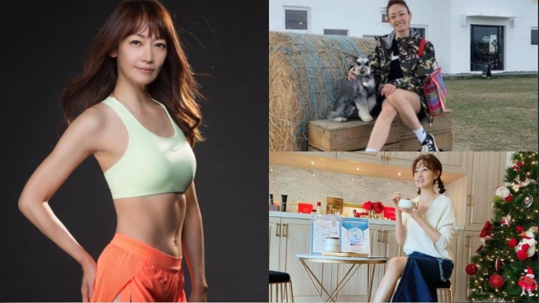 潘慧如健身3個月體質掉7%。(圖/翻攝自潘慧如IG) 擺脫泡芙人 44歲潘慧如特訓3個月體脂剩19%