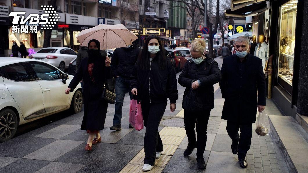 (圖/達志影像美聯社) 土耳其染疫數狂飆日增5.6萬例 每5人檢測1人確診