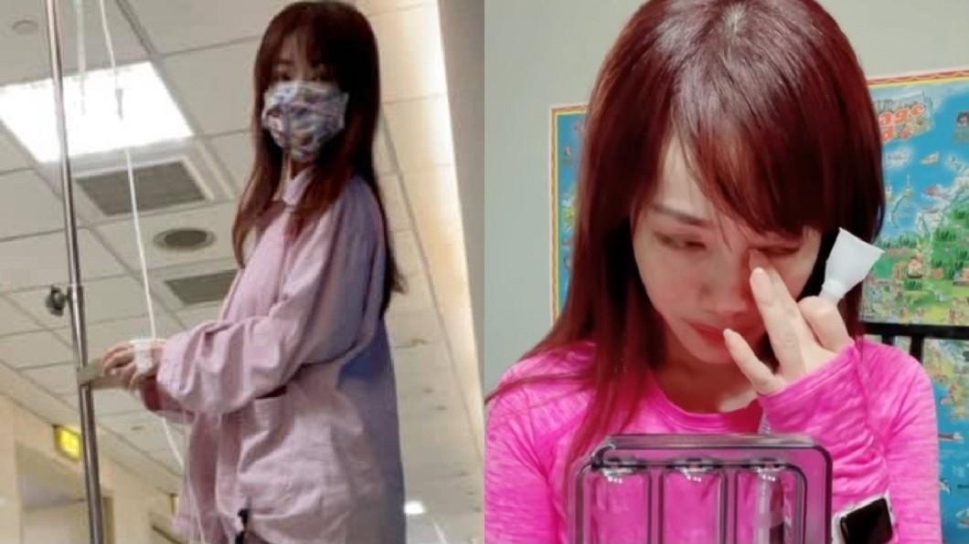 蕭彤雯罹肺腺癌後,自主進行術後呼吸訓練有了大進展,讓她激動哭了。(圖/翻攝自蕭彤雯臉書) 罹肺腺癌術後24天 蕭彤雯「見驚人景象」情緒潰堤