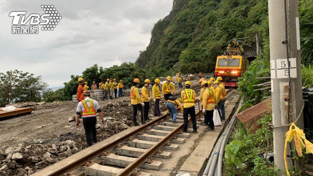 (圖/中央社) 進度超前!台鐵東正線搶修8天 最快晚間提前試運轉