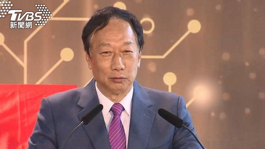 郭台銘呼籲媒體別再報導疫苗採購進度。(圖/TVBS) 傳與上海復星簽署文件?郭台銘:別再報導疫苗採購進度