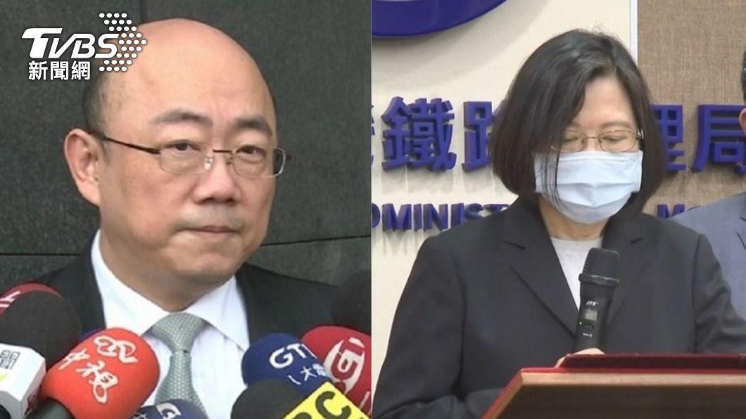 郭正亮直言蔡英文被行政院騙了。(圖/TVBS資料畫面) 蔡英文被騙了?前綠委爆蘇揆沒核「台鐵總體檢報告」