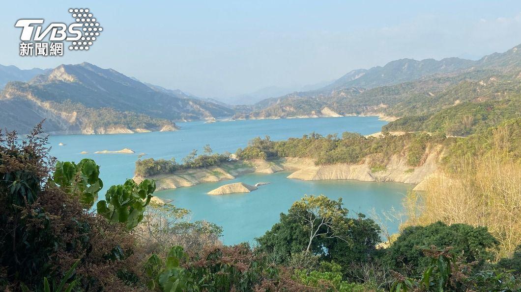 南化水庫。(圖/中央社) 南化水庫蓄水跌破3成 台南增設移動淨水設備