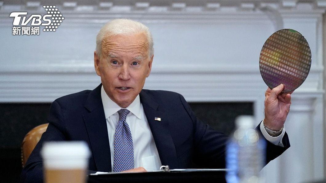 美國總統拜登。(圖/達志影像美聯社) 白宮峰會將商討晶片生產 為提振全美製造業一環