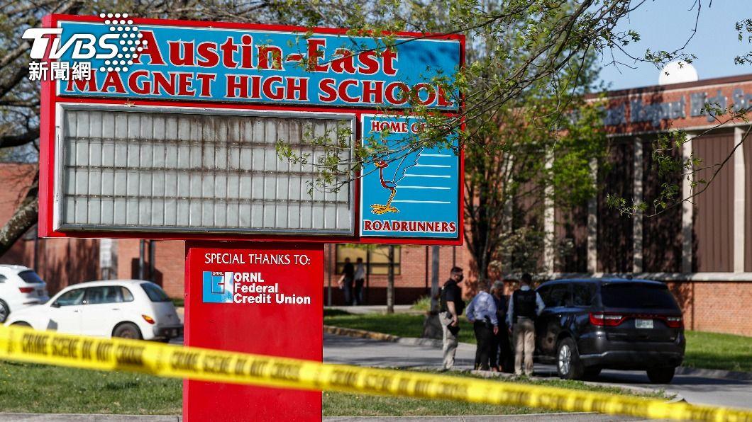 (圖/達志影像美聯社) 美國又爆槍擊案!田納西州高中1死1警傷 1嫌落網