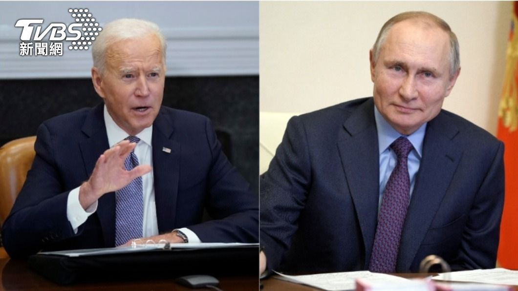 美國總統拜登、俄羅斯總統普欽。(合成圖/達志影像美聯社) 拜登、普欽談烏克蘭局勢 提議第三國開峰會
