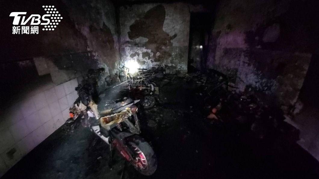 (圖/中央社) 台中外籍移工宿舍清晨火警 5人受傷送醫