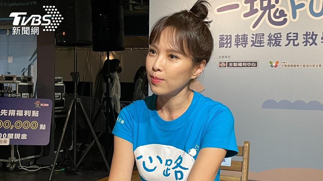 天心因疫情被迫和老公遠距離。(圖/TVBS) 天心解相思飛韓國找尪 「4度捅鼻檢測」痛喊:像抽腦髓
