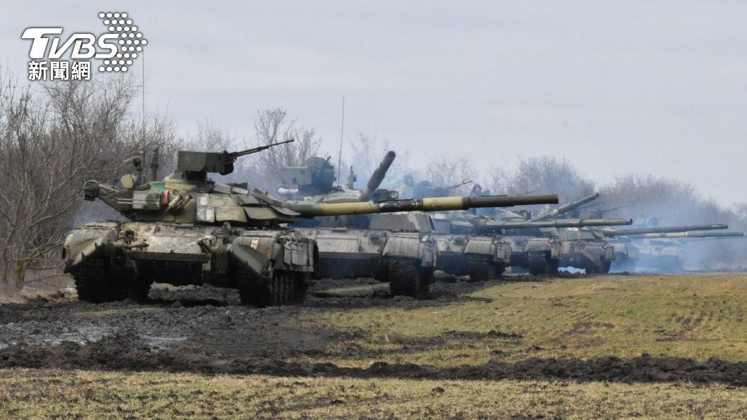 (圖/達志影像路透社) 邊界情勢緊繃 烏克蘭與俄羅斯同時軍演