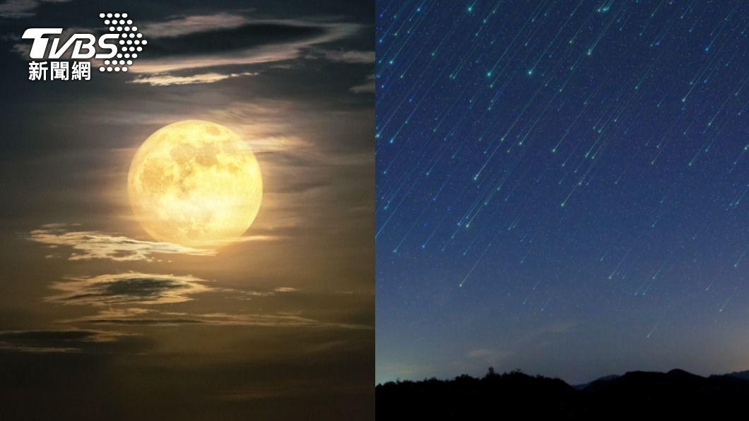 天琴座流星雨、超級月亮同步登場。(示意圖/shutterstock達志影像) 「天琴座流星雨」季節又來了! 同步喜見超級月亮