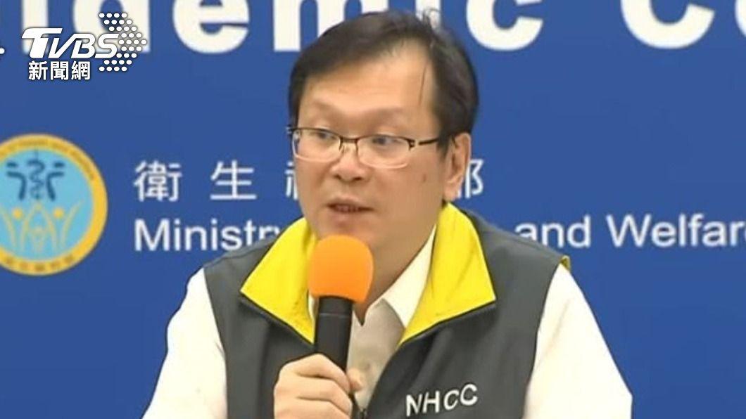 中央流行疫情指揮中心發言人莊人祥。(圖/TVBS) 今新增2例境外移入 自菲律賓及克羅埃西亞入境
