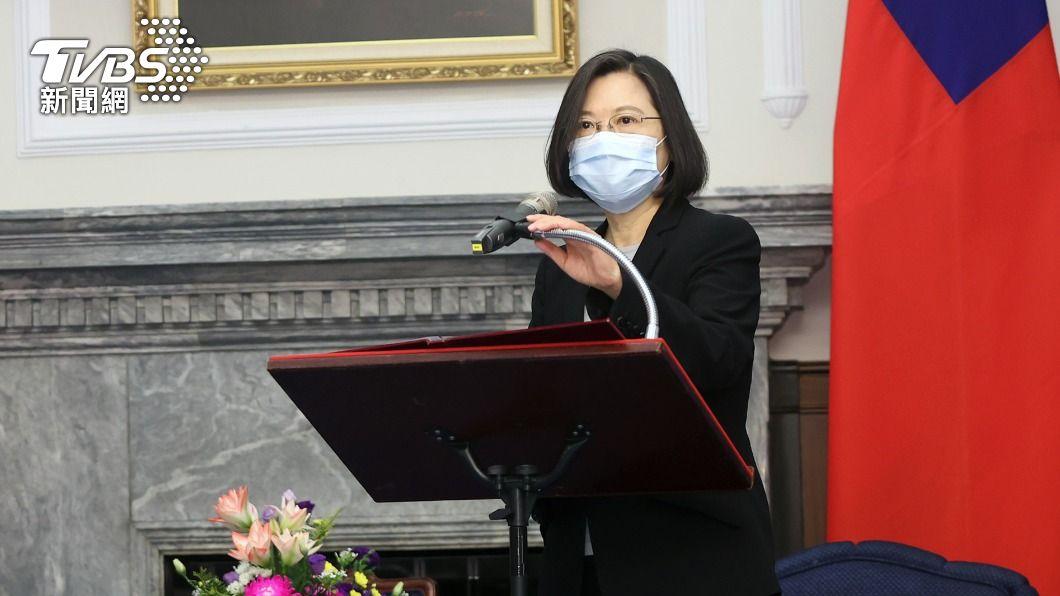 總統蔡英文。(圖/中央社) 蔡英文22日接見環團!將回應能源轉型減碳議題