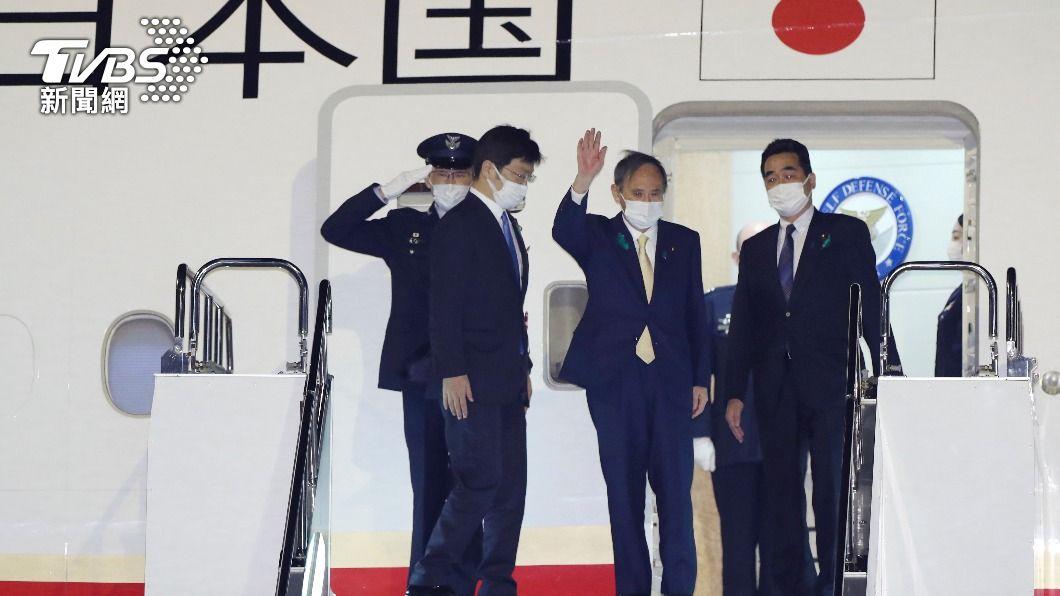 日本首相菅義偉訪美。(圖/達志影像美聯社) 路透:拜登、菅義偉將組挺台陣線 對抗北京加壓