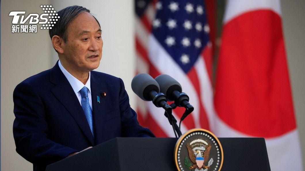日本首相菅義偉今(17)日出席美日雙邊會議。(圖/達志影像路透社) 日本疫情持續升溫恐影響東京奧運? 菅義偉說話了