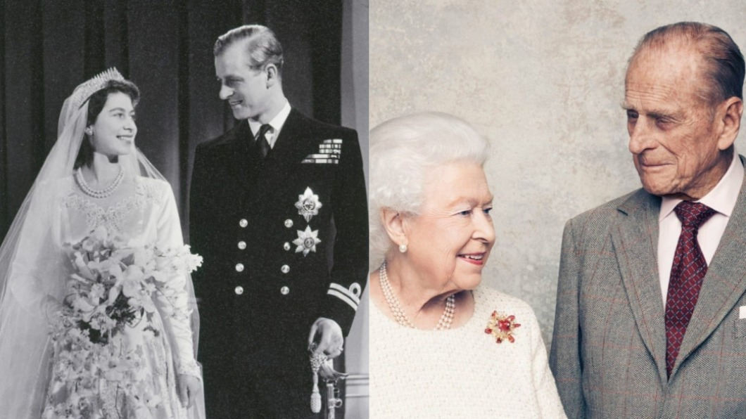 女王和菲立普親王結婚逾70年。(圖/翻攝自@RoyalFamily推特) 女王曝菲立普親王私下面 分享「珍貴照」告別摯愛